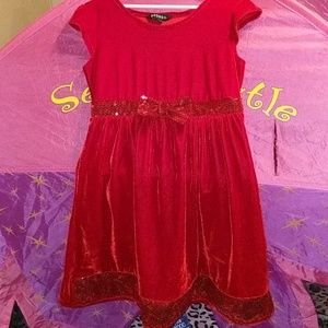 Beautiful red velvet feeling Christmas dress